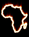Africa on fire Stock Photography