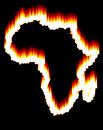 Africa on fire Stock Images