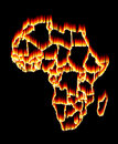 Africa on fire Royalty Free Stock Photo