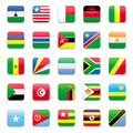 Africa flag b Stock Photos