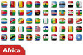 Africa flag buttons Stock Photos