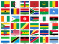 Africa flags vector set colorful of comfortable for use in your job Royalty Free Stock Image