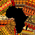 Africa map on ethnic background texture Stock Photo