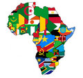 Africa map flag Royalty Free Stock Photography