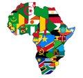 Africa map flag