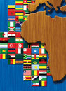 Africa Map with flags Stock Photography