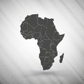 Africa map on gray background, grunge texture