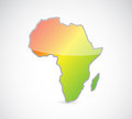 Africa map outline illustration design over a white background Stock Photography