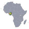 Africa map with Sao Tome and Principe