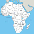 Africa map vector eps Stock Photos