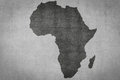 Africa map on vintage textured background , continent silhouette