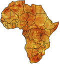 Africa political map Royalty Free Stock Photography