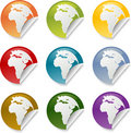 Africa round stickers Royalty Free Stock Photo