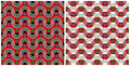 Africa set - two patterns Royalty Free Stock Photo