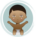 African American baby boy Stock Photos