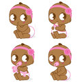 African American baby girl Stock Photography