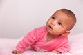 African american baby girl black people adorable little Stock Image