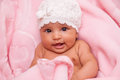 African american baby girl black people adorable little Royalty Free Stock Photography