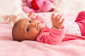 African american baby girl black people adorable little Stock Images
