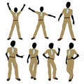 African American Boy Scout Illustration Silhouette Royalty Free Stock Images