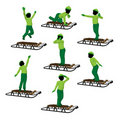 African American Boy On A Sled Silhouette Stock Photo