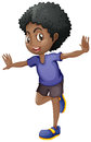 African american boy smiling Royalty Free Stock Photo