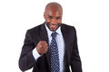 African American business man clenched fist Royalty Free Stock Photos