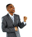 African American business man with clenched fist Royalty Free Stock Image