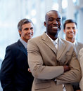 African American business man with coworkers Royalty Free Stock Images