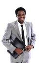 African American businessman with folder Stock Images