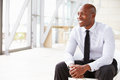 African American businessman looking away, horizontal Royalty Free Stock Photo