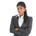 African american businesswoman in business suit portrait of beautiful isolated over white background mixed race asian indian and Royalty Free Stock Photos