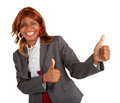An african american businesswoman is showing her appreciation for a job well done Stock Photo