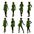 African American Casual Woman Silhouette Royalty Free Stock Images