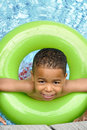 African American Child Swimming Royalty Free Stock Photo