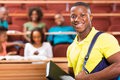 African american college student handsome in lecture hall Stock Photos