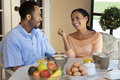 African American Couple Having A Healthy Breakfast Royalty Free Stock Photo
