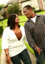 African American Couple Walking Stock Images