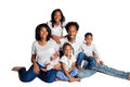 African American Family Portrait Royalty Free Stock Photo