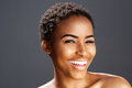 African american fashion model smiling Royalty Free Stock Photo