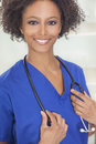African American Female Woman Hospital Doctor Stock Image