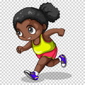 African american girl running Royalty Free Stock Photo