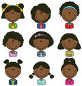 African american girls avatar useful for social network Stock Photo