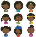 African-American girls avatars Royalty Free Stock Photo