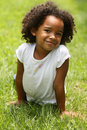 African American Little Girl Stock Image