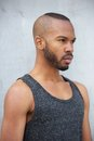 African american male fashion model with modern hairstyle Royalty Free Stock Photo