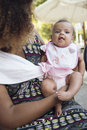 African american mother holds her baby Royalty Free Stock Photo