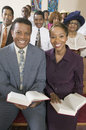 African american people at the church portrait of smiling Royalty Free Stock Image