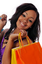 African american shopper Stock Photos