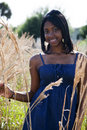African American teen in nature Royalty Free Stock Photo